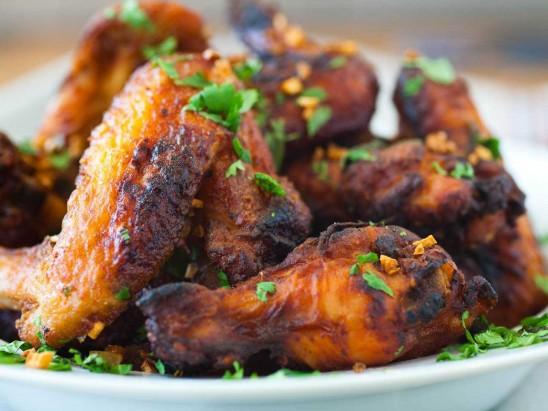 Fried Chicken Wings in Thai Way